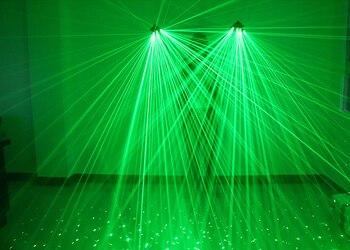 Di Alta Qualità Guanti 2 Pz Laser 532nm Modulo Laser Verde 40 Laser Travi Ogni Mano Palcoscenico Guanti Per DJ Club Party Laser Show