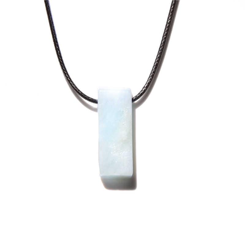 天然石スライスポイントビーズネックレス生 aquamarines アメジストトルコ石のペンダントネックレス男性ジュエリーギフト
