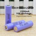 3 peças. o original para samsung icr18650-h 2200 muito bateria de lítio de energia nas baterias cigarro eletrônico especial