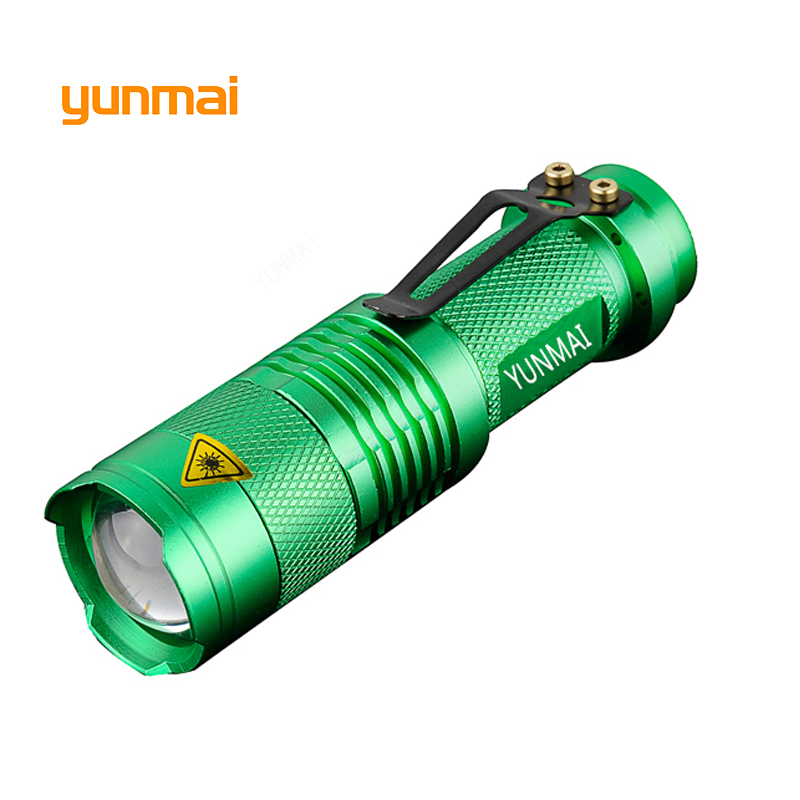 Купить с кэшбэком Powerful NEW XPE/Q5 Led flashlight Mini Torch Portable Light one Mode Small Penlight Flash Light Hunting By AA/14550 Battery