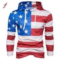2017 3D Print Hoodies Sweatshirts Men Fashion American Flag Hooded Sweats Tops Hip Hop Unisex