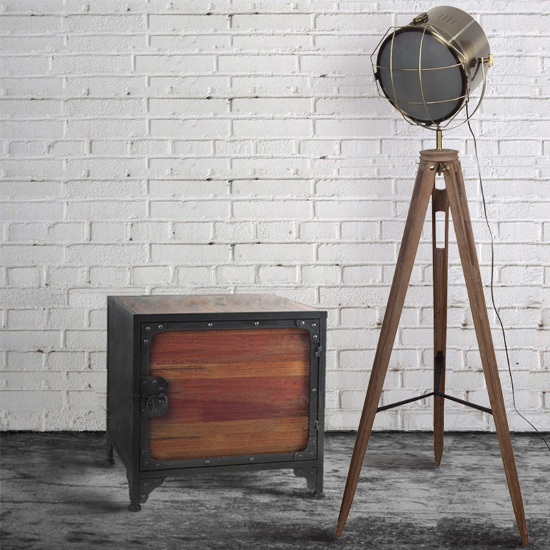 A1 Nordic Industrial lamp three tripod photography Lamp Vintage Old wood American living room LOFT illumination lamp post FG543 стеллаж old post