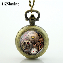 Antique vintage bronze pocket watch steampunk Necklace Pocket Watch Necklace