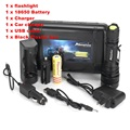 Alonefire G910 LED Zoomable USB Flashlight Torch light CREE XM-L T6 waterproof zoom torch with 18650 Battery and charger