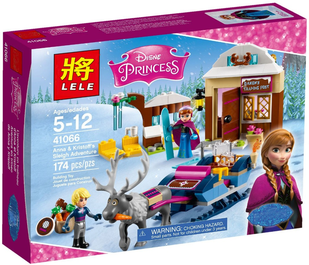 180pcs Princess Anna And Kristoff s Sleigh Model Set SY Building Blocks Friends Gifts Toys Compatible