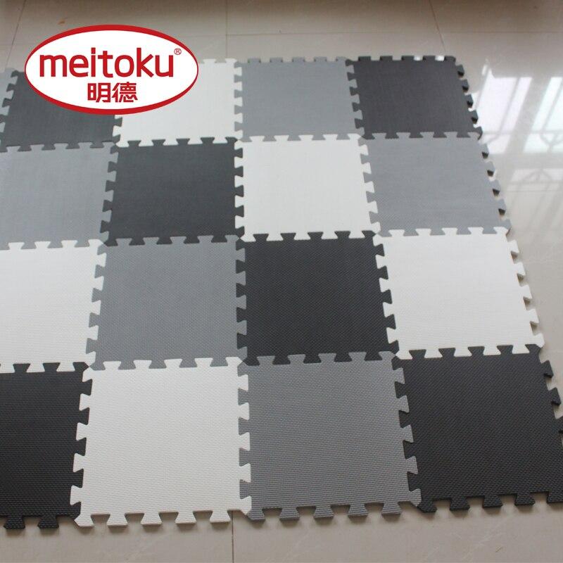 Tapis de Puzzle de jeu de mousse d'eva de bébé de Meitoku pour des enfants/tapis de tapis de plancher de tuiles d'exercice de verrouillage, chacun 32X32 cm, 18 ou 24pc dans un sac