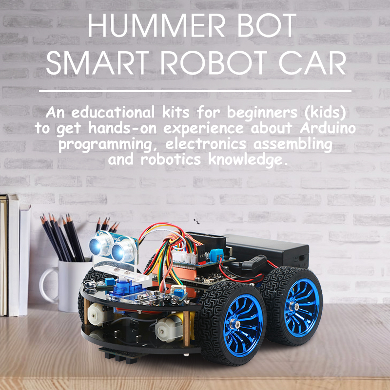 4WD Smart Robot Car Diy for Arduino with Ble UNO R3,Starter Robotics Learning Kit APP RC STEM Toy Kid,Support Scratch Library