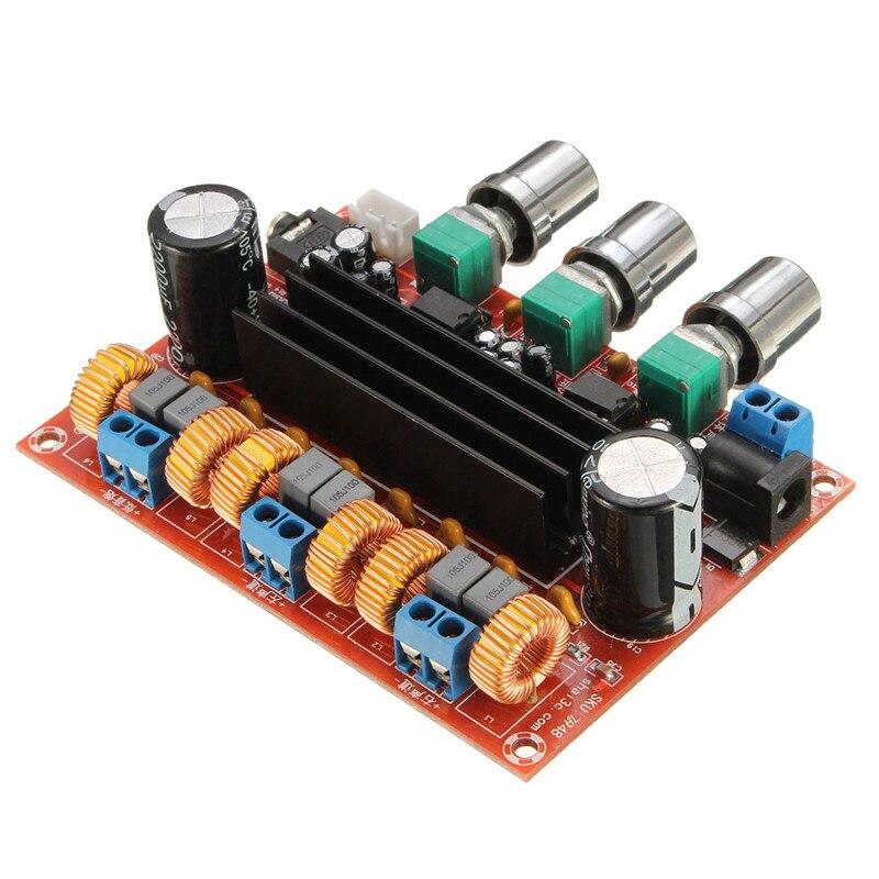 HFES Nuovo Amplificatore Bordo TPA3116D2 50Wx2 + 100 w 2.1 Canali Digitale di Alimentazione del Subwoofer 12 ~ 24 v