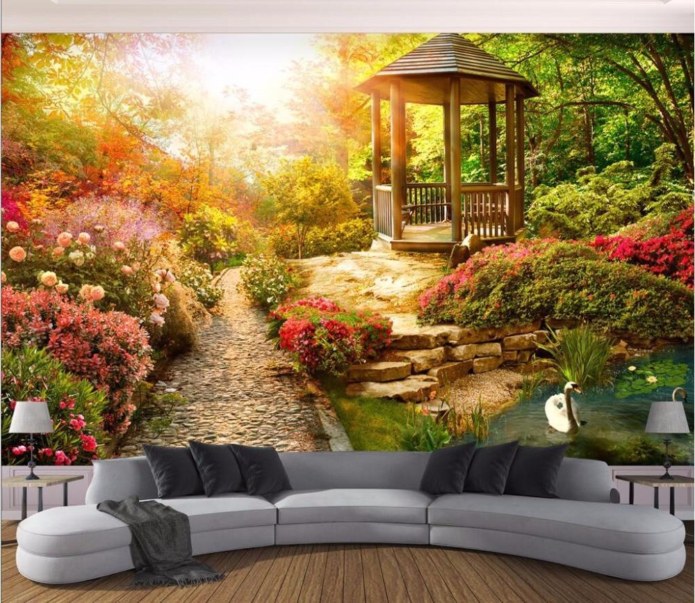 3d wallpaper custom photo mural sunshine garden scenery background