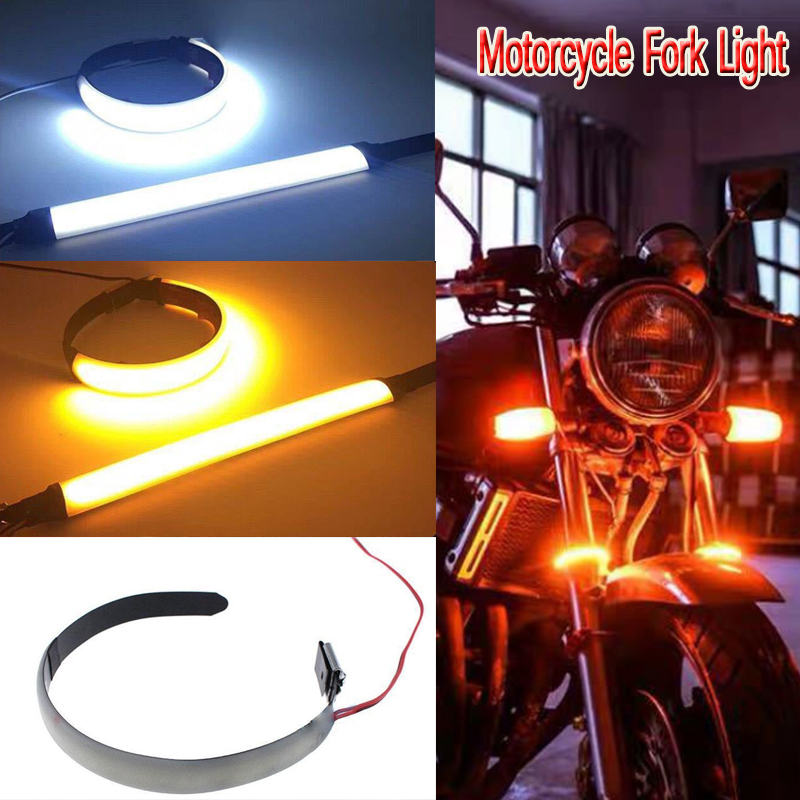Motorcycle Fork Light LED 12V 120 Degree View Angle Turn Signal Light Strip For Honda Harley Motorcycle Modification Accessories