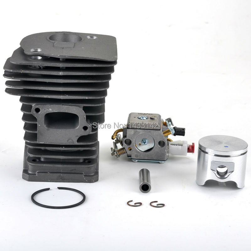 New SAVIOR Carburetor Carb Cylinder Piston Kits for HUSQVARNA 340 345 Chainsaw Parts 503283208, 503 28 32-08 high quality carburetor carb carby for husqvarna partner 350 351 370 371 420 chainsaw poulan spare parts walbro 33 29