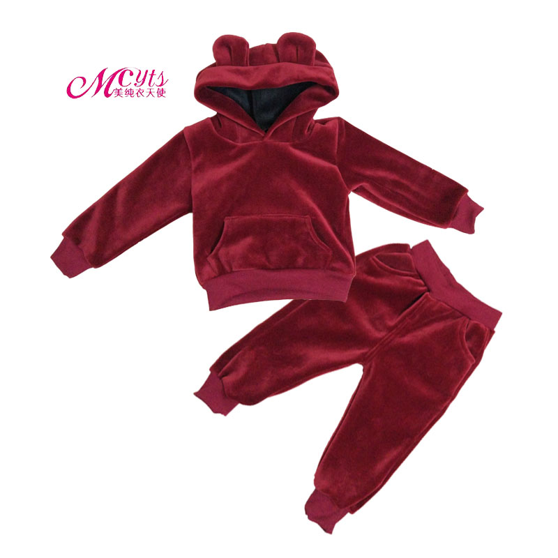 Children Tracksuits Sets Autumn Winter Boys Clothes Velvet Hoodies+Pant 2 Pcs Kids Sport Suit Girls Clothing 2 3 4 5 6 7 Years autumn winter boys clothing sets kids jacket pants children sport suits boys clothes set kid sport suit toddler boy clothes