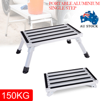 Portable Folding Step Ladder Tool Metal Safety Step Ladder Stool Camping Accessory Home Furniture Tool MAYITR
