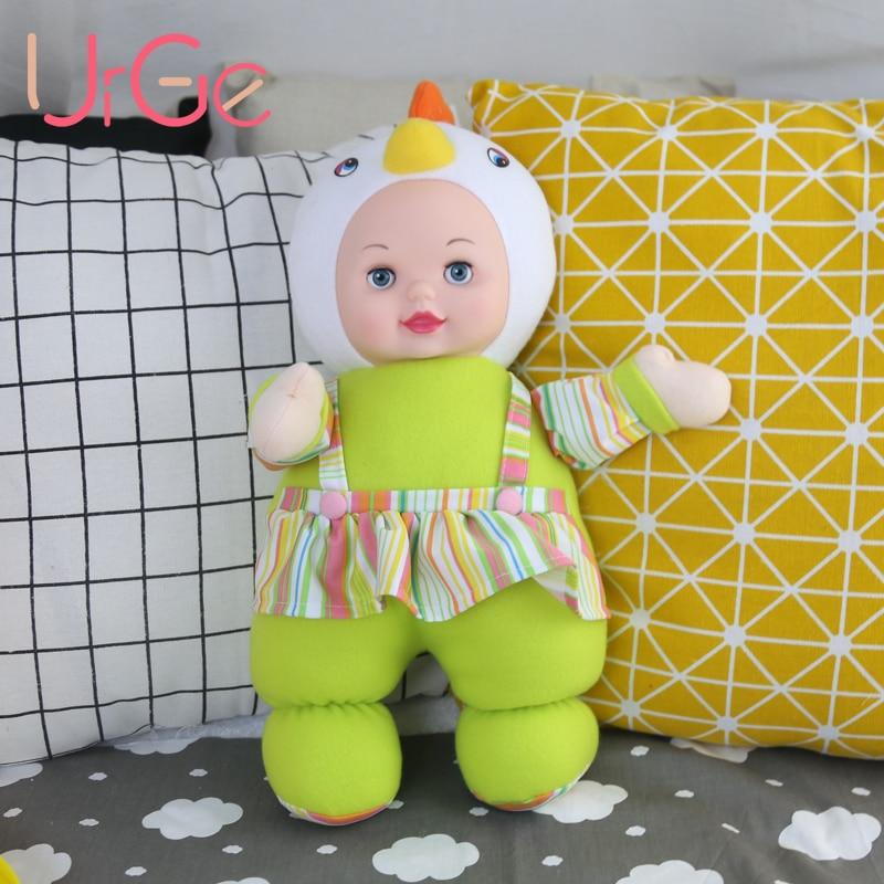 Kawaii chaud mignonne peluche poulet jouets en peluche animaux avec de grands yeux poupées en silicone reborn jouets pour enfants filles URGE poupée