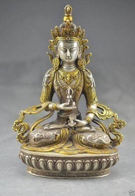 Elaborate Chinese Tibetan Buddhism Bodhisattva Guan Yin Kwan yin Buddha Statue in Statues Sculptures from Home Garden
