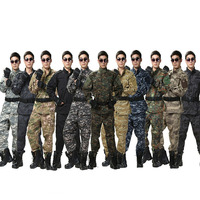 12Colors ACU Men Tactical Military Clothing Waterproof US Army Soldier Training Camouflage Special Forces CS Hunting Clothes Set