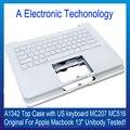 """Original novo Layout Topcase Palmrest A1342 MC207 MC516 Branco EUA Teclado com Luz Negra Para MacBook Pro Unibody 13 """"reparação Parte"""