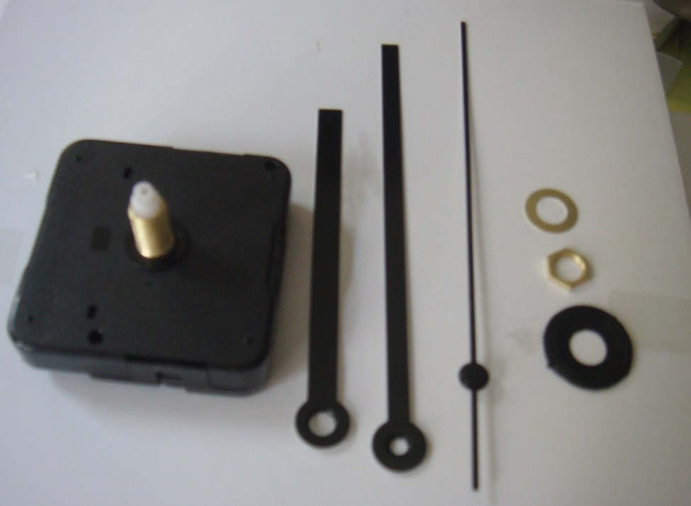 1000 Pcs/lot High Quality Long Axis 20mm Quiet Simple Design Replacing Quartz Clock Movement Full Kits Of Accessories