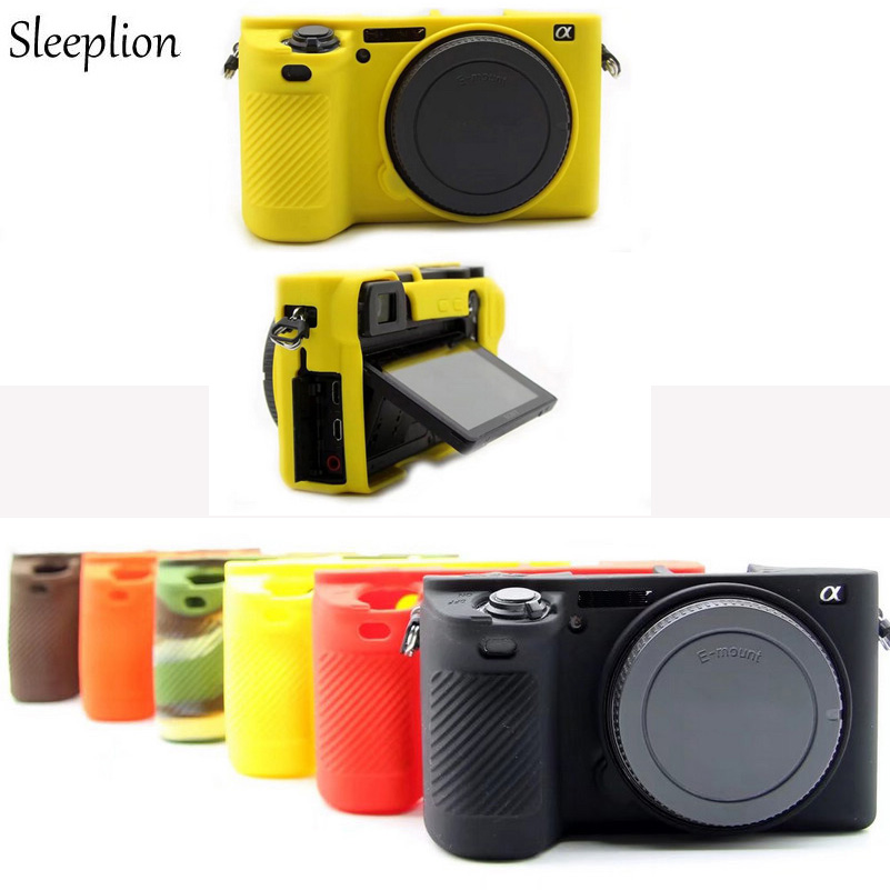 Sleeplion Camera Soft Silicone Case Body Protective Cover For Sony A6500 A6300 Mirrorless System Camera Rubber Skin Case