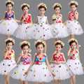 Ropa de danza dress for girls princess dress el coro estudiantil niño ropa de danza moderna trajes para niños