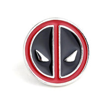 Dongsheng Deadpool Pin Bros Fashion jewelry Enamel Pin Marvel Hitam Merah Deadpool Masker Wajah Lencana Kerah Pin untuk Mens-40(China)