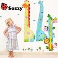 Baby Toys 1.4 Meters Height Measure Growth Chart Sozzy Soft Animals Giraffe Elephant For Kids Children Newborns 0-12 Months