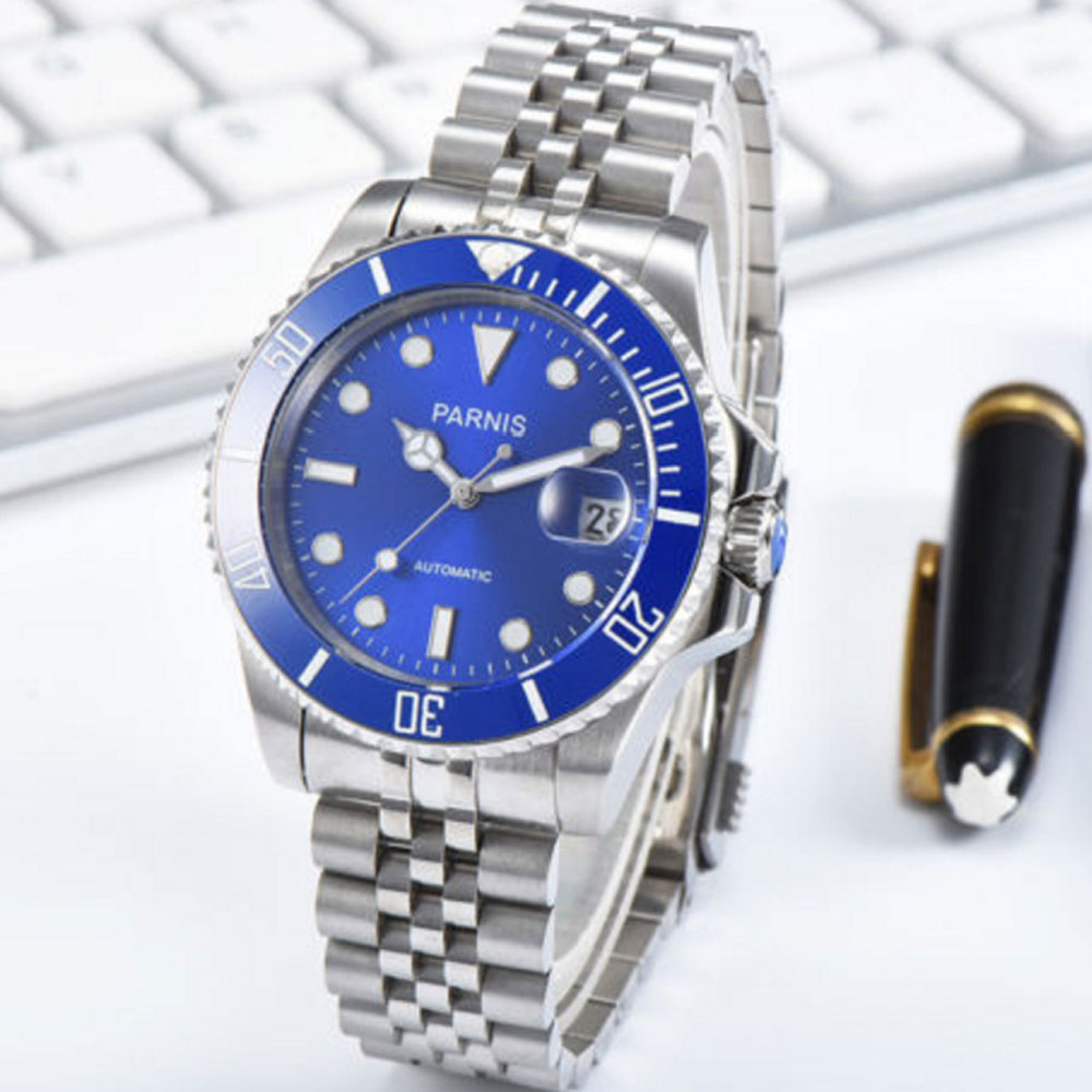 40mm Parnis Watch Mechanical Sapphire Crystal Casual Stainless steel Miyota 8215 Mens Automatic Watch New Arrival 201840mm Parnis Watch Mechanical Sapphire Crystal Casual Stainless steel Miyota 8215 Mens Automatic Watch New Arrival 2018
