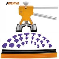 FEISHIYE 31Pcs DIY Dent Mini Lifter Glue Puller Pulling Tabs Repair Tools Kit for Car Body Ding Hail Removal
