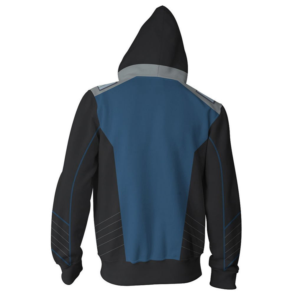 The Orville Ed Men Fashion Hoodie Sweatshirt Cosplay Costume Zip up Jacket Coat