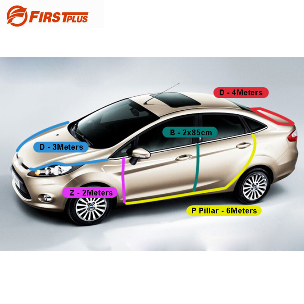 For Ford Focus Front Rear Doors Bonnet Trunk Anti Noise Dust Sealing Strips Car Door Seal Trim cawanerl car sealing strip kit weatherstrip rubber seal edging trim anti noise for nissan almera march micra note pixo platina