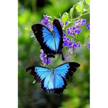 DIY5D Diamond Embroidery Painting Full Mosaic Rhinestone Painting Animals Butterfly 3D Cross Stitch Landscape Room Decor RY201