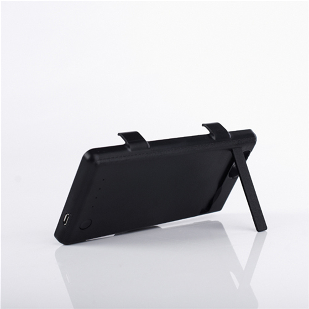 3500 mah Batterie De Secours Chargeur Case Capa Pour Sony Xperia Z1 Compact/Z1 mini (M51w) d5503 Powerbank Pack Couverture avec Support Noir