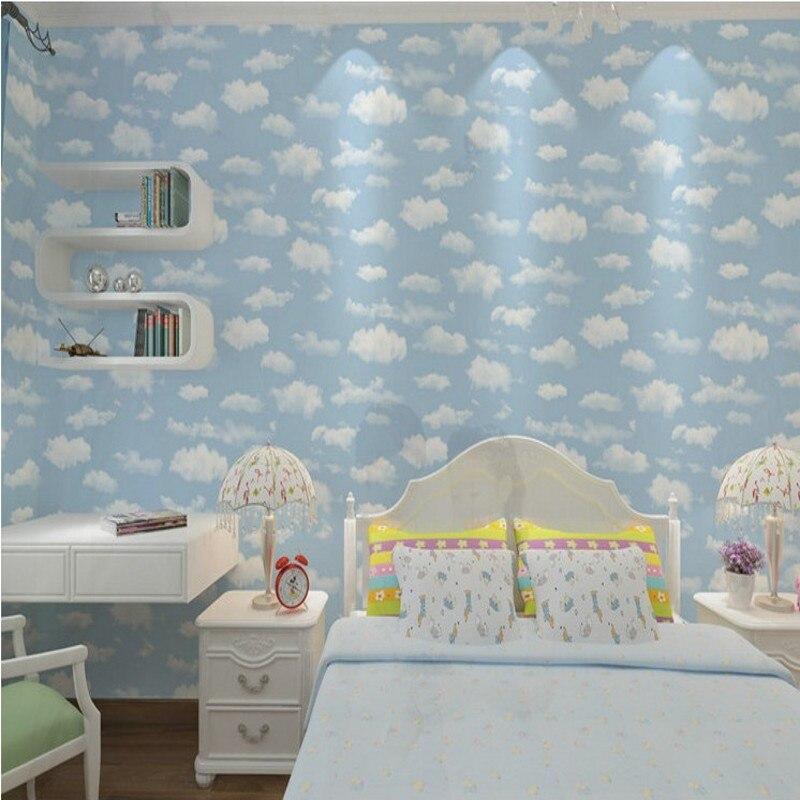 Blauen Himmel Weiße Wolken Tapete Decke Cartoon Tapete kinderzimmer  Hintergrundbild