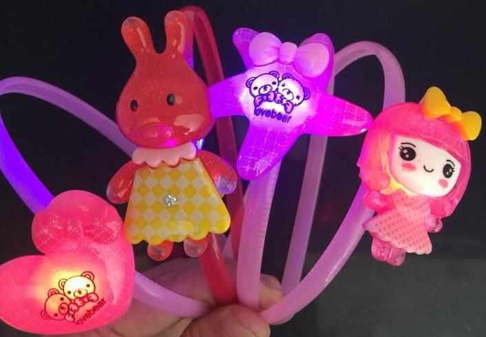 Ailin only 10pcs Light-Up Toy Creative children with shiny hair bands Flashing toy headband