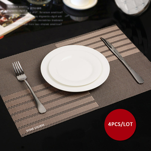 45X30CM Non slip Insulation Placemat Quality PVC Table Placemat Large Dinner Mat Set of 4PCS Table Mats Fashion Style Dining Mat(China)