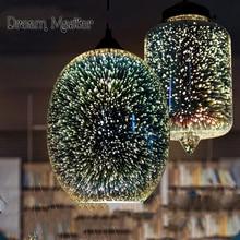 3D Glas Pendelleuchte Restaurant Wohnzimmer Lampe Schlafzimmer Bar Kunst Kreative Persnlichkeit Retro Industriel
