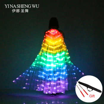 1Pc Stage Performance Props Women Dance Accessory LED Dance Wings Light Up Wing Costume LED Dance Wings Rainbow Color With Stick - DISCOUNT ITEM  35% OFF All Category