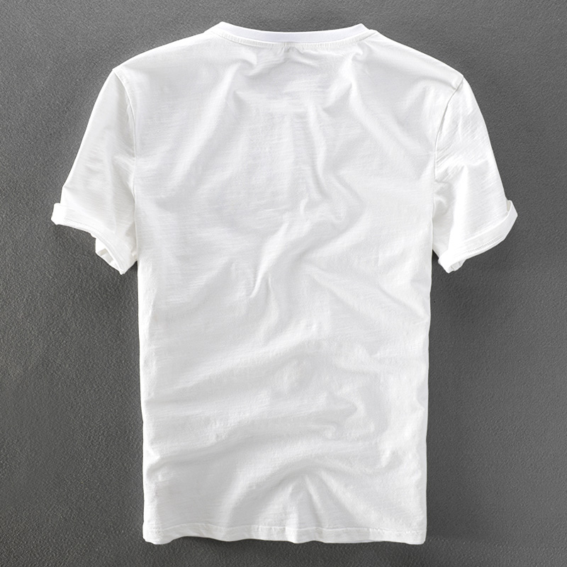 2018 Summer fashion printed embroidery linen t shirt men comfortable stitching design cotton and flax men tshirt camisa da marca