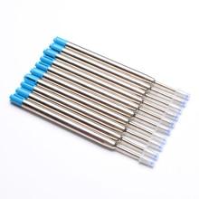 Bút Bi Refill10pcs Kugelschreiberminen Đen Mực Xanh 0.7 Mm Vừa Ngòi Balpen Vullingen Bi Gel Nạp Lại