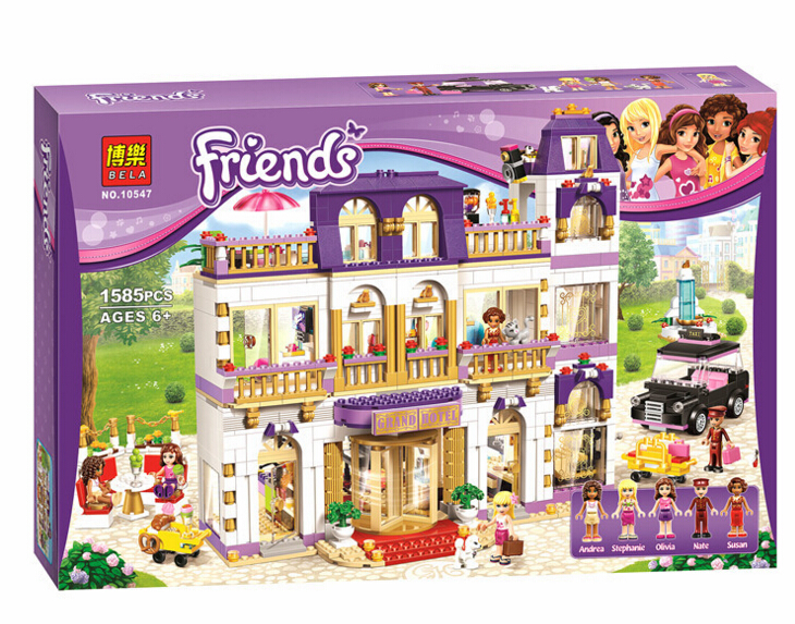 New 10547 Friends Series Girls 1585PCS Hotel Model Minifigures Set Building Blocks girl toys Compatible With