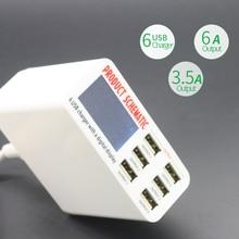 6-Port USB Charging Station
