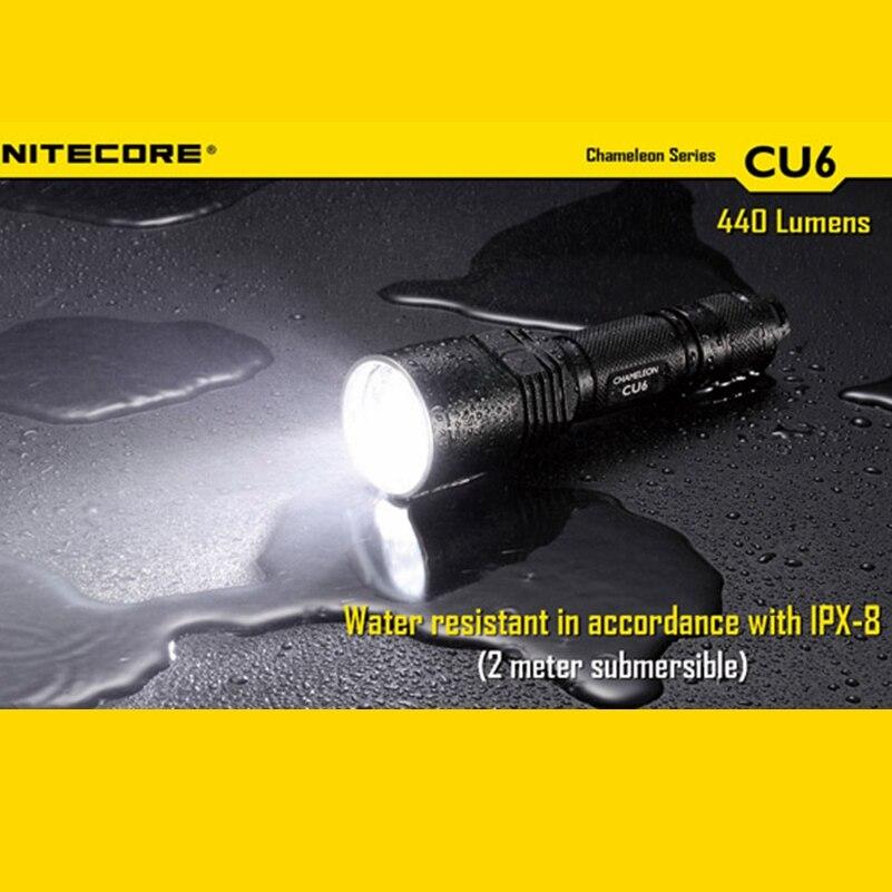 Nitecore Chameleon CU6 Long Range Ultraviolet LED Flashlight - 440 Lumens Not Battery madona cu pruncul cu