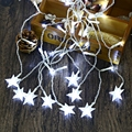 Waterproof  String Light AC 110 - 220V 4M Droop 0.6M Star String Fairy Light Curtain Icicle Decorative Lamp  Ideal For Wedding