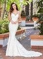 Robe de Mariee Custom Made Spaghetti Straps Backless Appliques Mermaid Lace Wedding Dress Vestidos De Novia