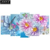 Zhui Star 5d Diy Diamond Embroidery Butterfly Flower 5PCS Diamond Painting Cross Stitch Full Drill Rhinestone