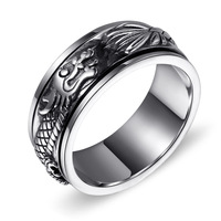 925 Sterling Silver Dragon Ring fingerring silver food man exaggerated retro atmosphere