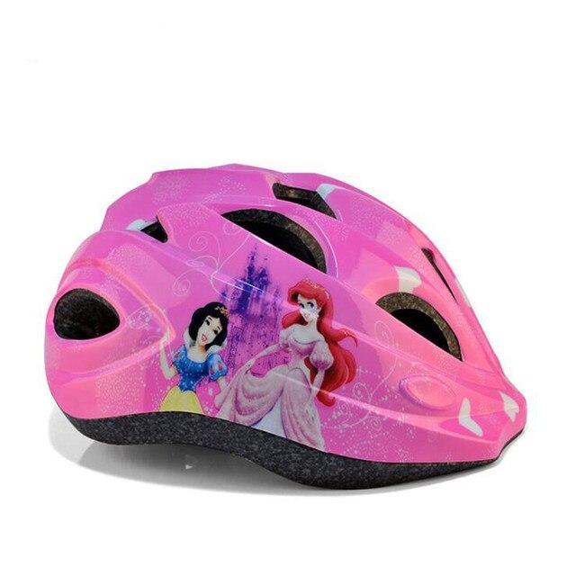 c27f74a7c 2017 Novo Capacete Da Bicicleta Meninos Meninas Rosa Vermelho Azul Princesa  Capacetes de Ciclismo