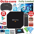 M9 Pro 3G/32G Inteligente Android 6.0 TV Box Amlogic Octa S912-Core 2.4 GHz/5.0 GHz WiFi 3D 4 K Media Player 1000 M LAN PK X92