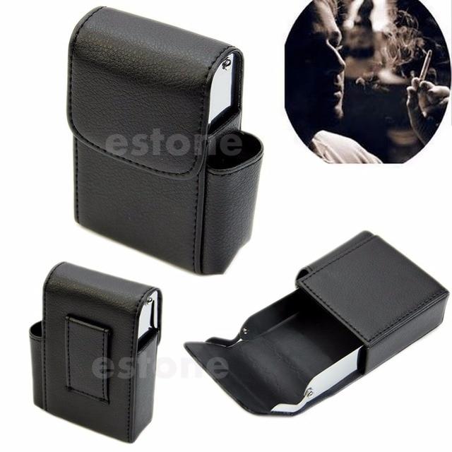 Noir Cigarette Dur Cas Pochette En Cuir Titulaire Portefeuille Bourse