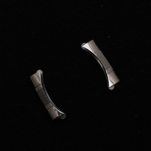 Image 5 - سوار ساعة من الفولاذ 14 15 16 17 18 19 20 21 22 24 مللي متر سوار ساعة مصقول معدني ناعم أساور مع نهايات منحنية حرة فضية جديدة